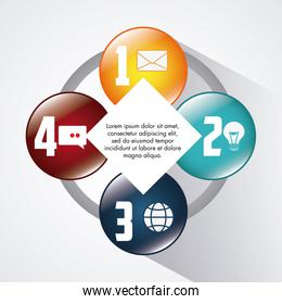 Infographic design. Data concept. Colorful illustration