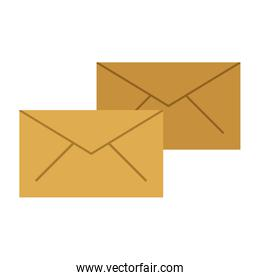 Mail envelopes isolated