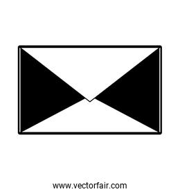 Mail envelope isolated