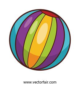Striped ball toy