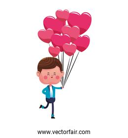 Cute boy with balloons