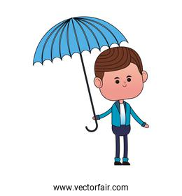 Cute boy with umbrella