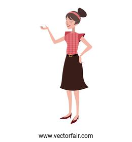 Retro woman with vintage clothes