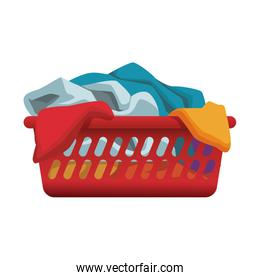 Clothes in basket