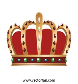 Medieval crown isolated