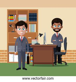 Coworkers at office cartoons