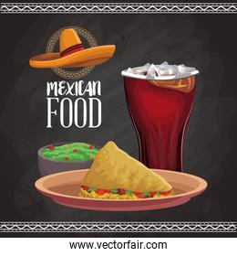 Mexican food menu card