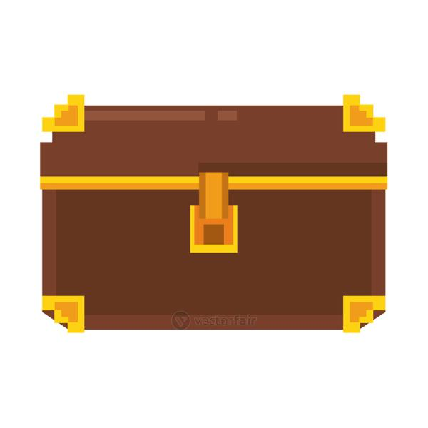 Pixelated wooden chest