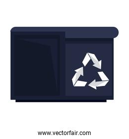 Pixelated trash container