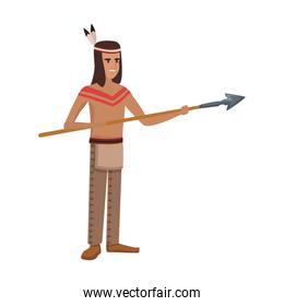 American indian with spear