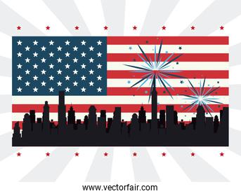 USA independence day design
