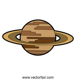 Saturn space planet