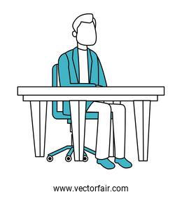 Doctor man seated at desk