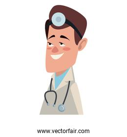Doctor male cartoon