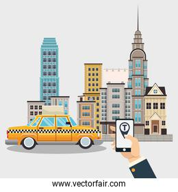 Online taxi service