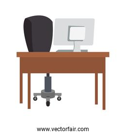 Office desk and computer