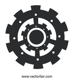 Gear isolated symbol