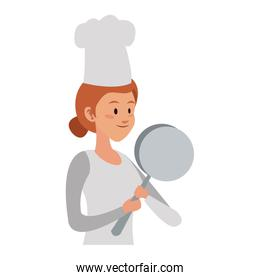 Chef female cartoon