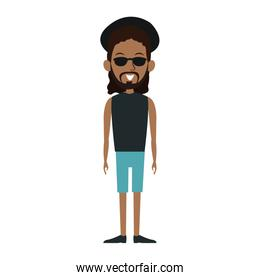 Young black man cartoon