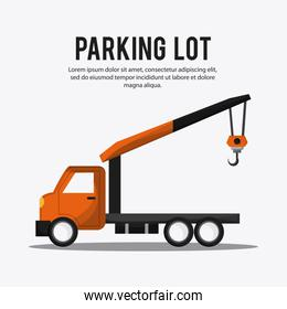 Parking lot design. Park icon. White background  , vector graphic