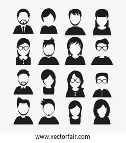 People design. Avatar icon. White background, vector
