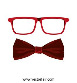 Male glasses and bow tie