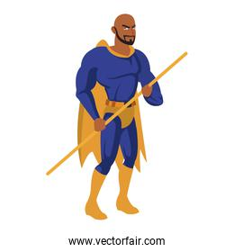 Male superhero cartoon