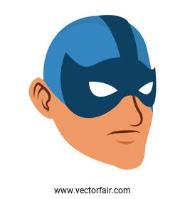 Male superhero face