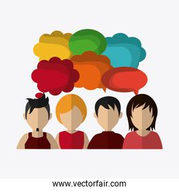 People design. Avatar icon. White background, vector graphic
