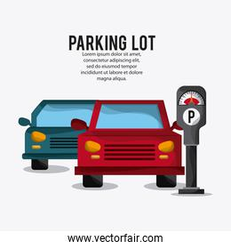 Parking lot design. Park icon. White background  , vector graphi
