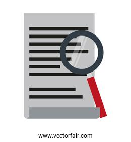Magnifying glass on contract