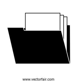 Folder with documents on black and white colors
