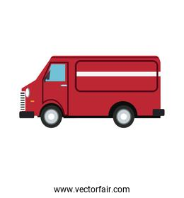 Van delivery vehicle over white