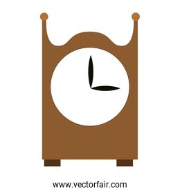 Wooden clock isolated