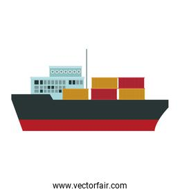 Freigther ship with containers