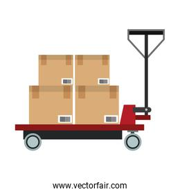 Boxes on cart