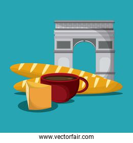 France design. tipical food icon. vector graphic