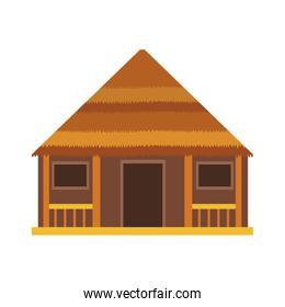 Wooden house isolated