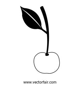 Sweet cherry symbol in black and white