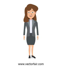 Executive business woman cartoon