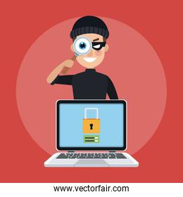 Hacker and security system
