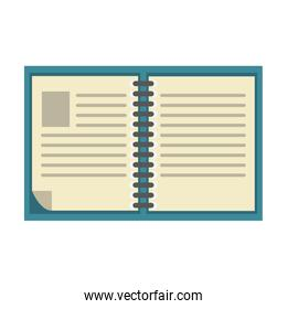 Book open isolated