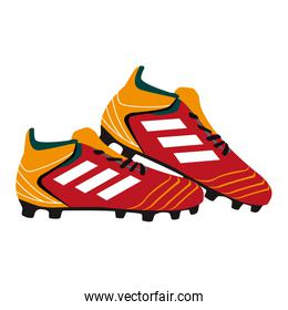 Soccer boots isolated