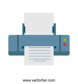 Computer printer isolated