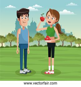 People and healthy lifestyle