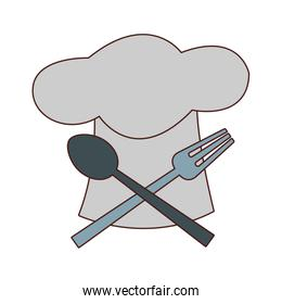 Chef hat and cutlery