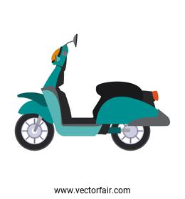 Scooter motorcycle isolated