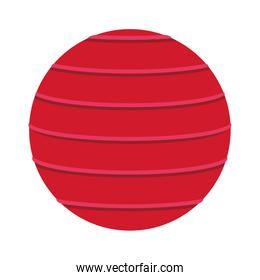 Exercise ball isolated