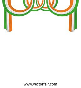 India flags frame