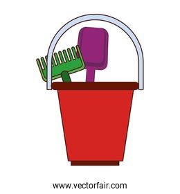 Sand bucket and tools toys